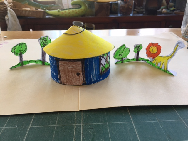Oona's paper yurt and landscaping.